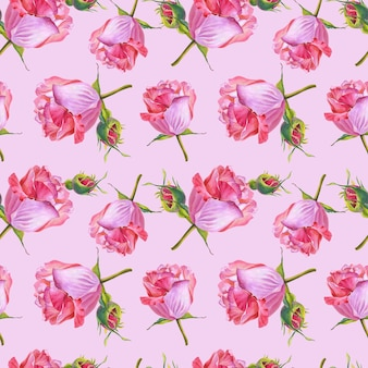 Kwiaty na różowym tle