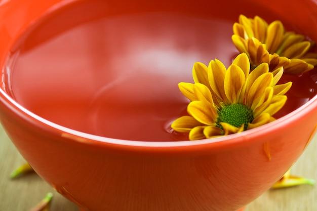 Kwiaty unoszące się w misce