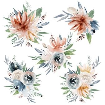 Kwiaty w akwarela i bukiety