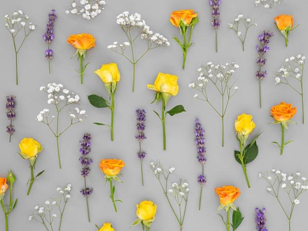 Kwiaty w tle