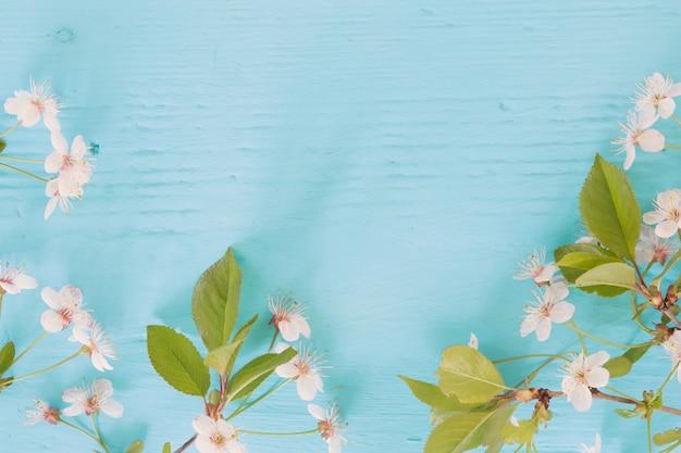 Kwiaty wiśni na drewnie