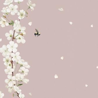 Kwitnący kwiatowy projekt karty ślubu