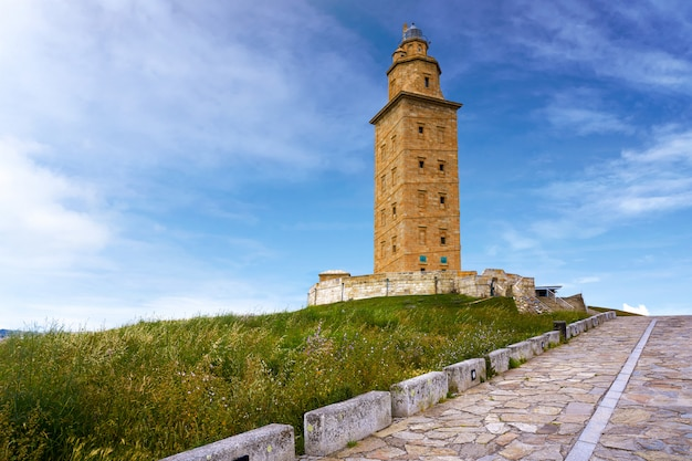La coruna hercules tower galicia spain