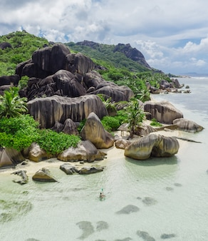 La digue, plaża na seszelach