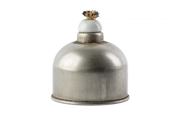Laboratoryjna lampa spirytusowa wypełniona poparzeniami alkoholowymi