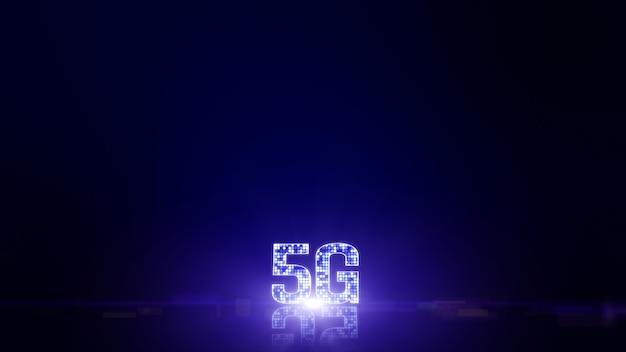 Łączność 5g dane cyfrowe futurystyczne informacje o tle rzeczy
