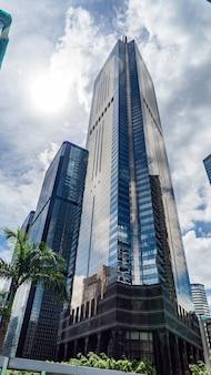 Ładna architektura, miasto hongkong.