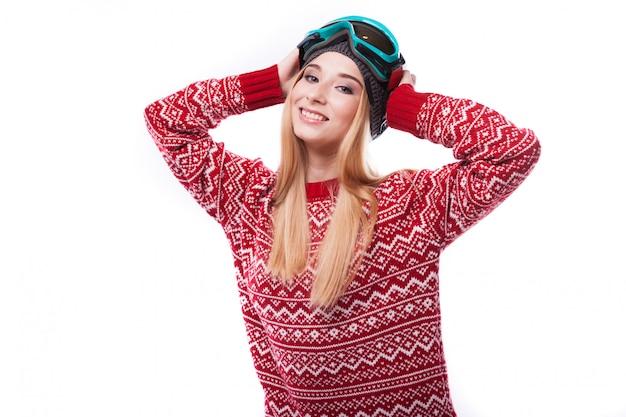Ładna dziewczyna w pulowerze