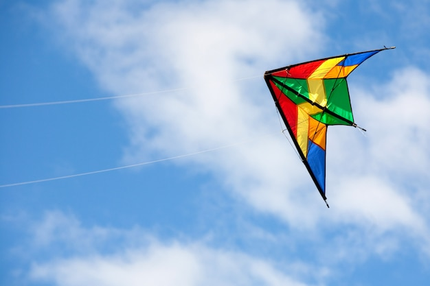 Ładny latawiec latający