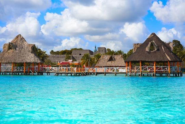 Laguna de bacalar lagoon w meksyku majów