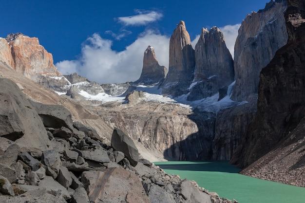 Laguna lodowcowa w parku narodowym torres del paine
