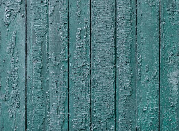 Lakierowana drewniana tekstura niebieską farbą