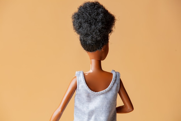 Lalka czarna dziewczynka z bielactwem