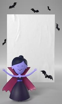 Lalka wampir na halloween