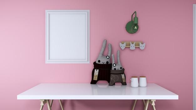 Lalka z różowym pokojem