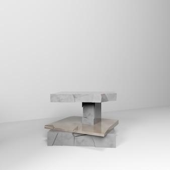 Łamana marmurowa scena do prezentacji produktu