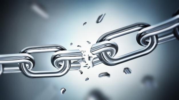 Łamanie koncepcji metalowego łańcucha wolności obrazu d design