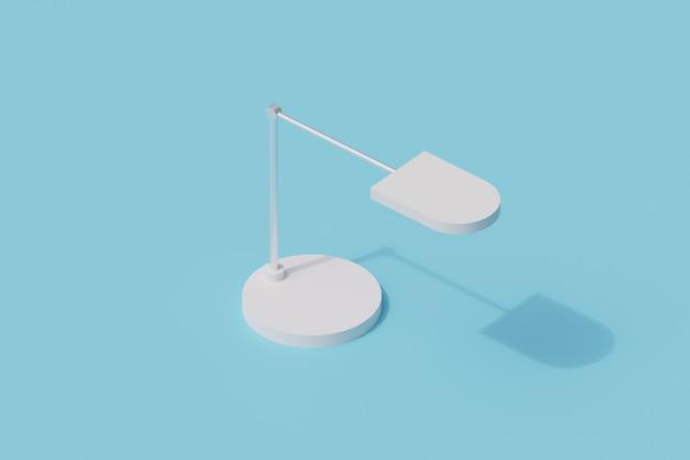 Lampa biurkowa pojedynczy izolowany obiekt. 3d render ilustracji izometryczny