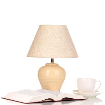Lampa stołowa na białym tle