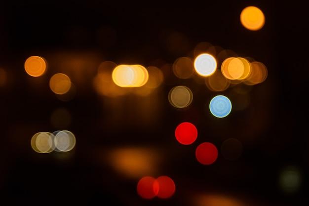 Lampki nocne wielkiego miasta. tło bokeh