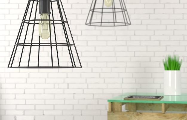 Lampy z drutu żyrandol z bliska