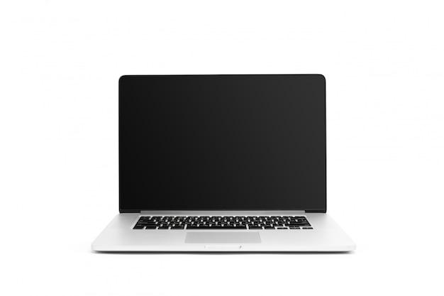 Laptop na białym tle