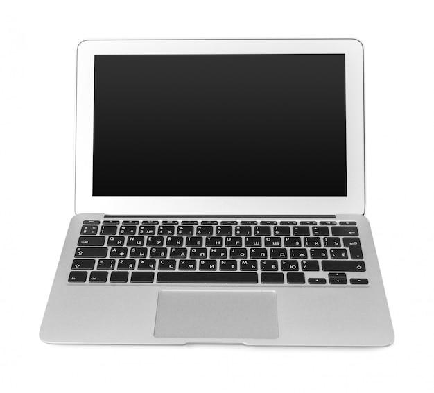 Laptop odizolowywający z czarnym ekranem