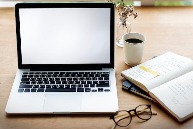 Laptopu gadżetu przyrządu notatnika pustej przestrzeni pojęcie