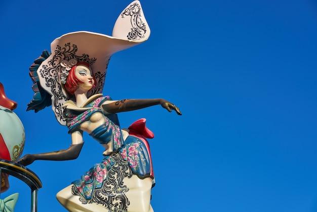 Las fallas fest postacie w walencja spain