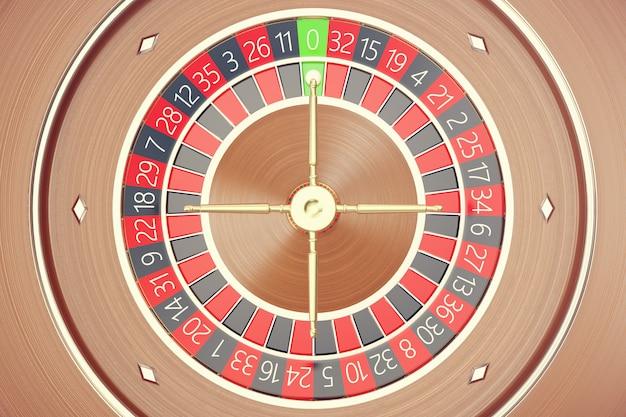 Las vegas casino roulette, casino roulette game, casino gambling concept renderowanie 3d.