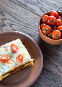 Lasagne z pomidorami koktajlowymi