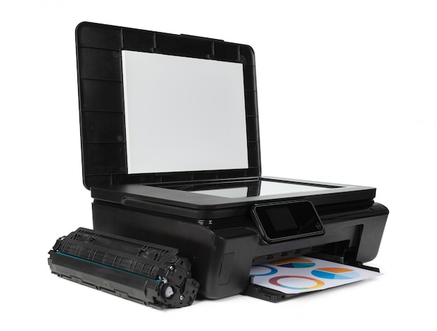 Laserowa domowa drukarka odizolowywająca na bielu