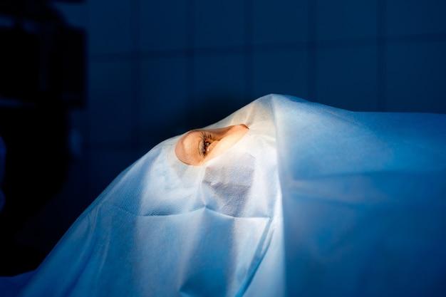 Laserowa korekcja wzroku. chirurgia okulistyczna oczu.