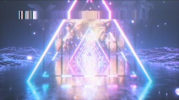 Lata 80. streszczenie retro futurystyczne tło