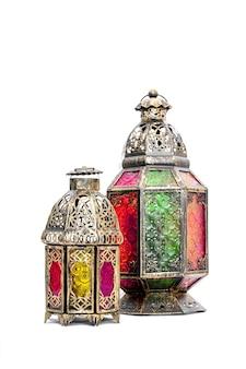 Latarnia arabska. orientalna dekoracja świąteczna