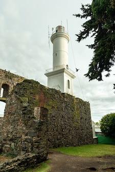 Latarnia morska colonia del sacramento urugwaj 12 grudnia 2018 r.