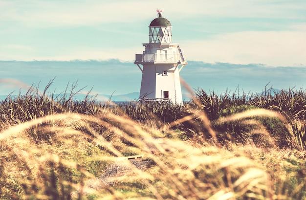 Latarnia morska na wybrzeżu pacyfiku, nowa zelandia