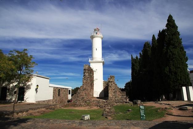 Latarnia morska w colonia del sacramento w urugwaju