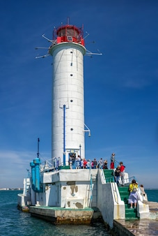 Latarnia morska woroncowa w odessie na ukrainie