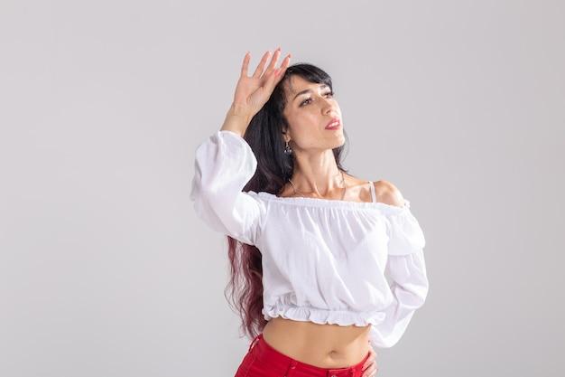 Latin dance, bachata lady, jazz modern and vogue dance concept