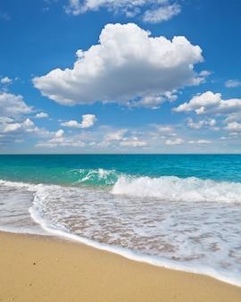 Lato na plaży morskiej.