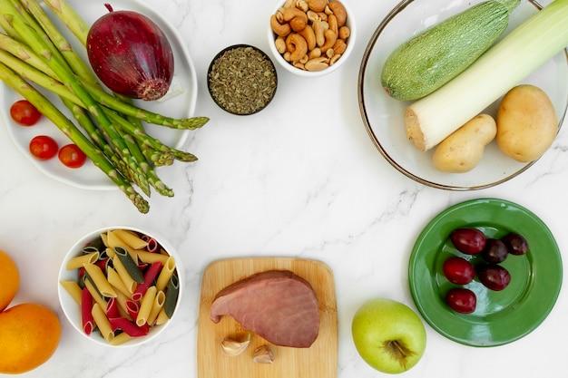 Łatwy asortyment żywności na diecie flexitarian