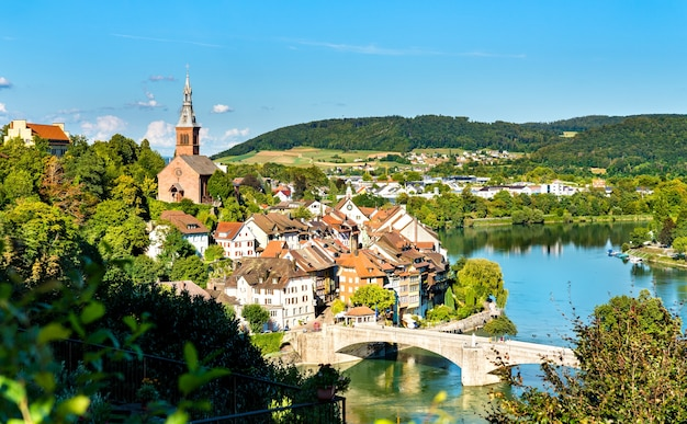 Laufenburg, miasto graniczne nad renem w niemczech