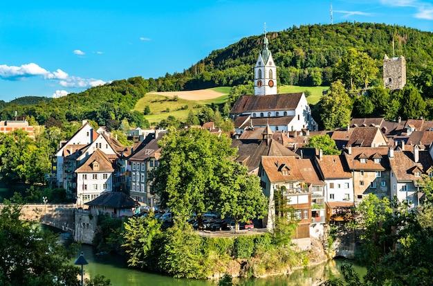 Laufenburg, miasto graniczne nad renem w szwajcarii