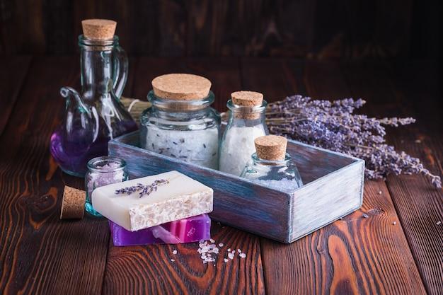 Lawendowe mydło i sól morska