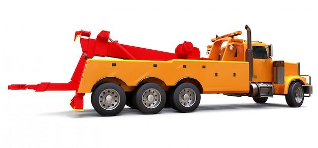 Laweta towarowa orange do transportu innych dużych ciężarówek