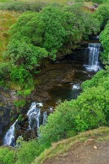 Lealt fall leży w wąwozie na wyspie skye w szkocji