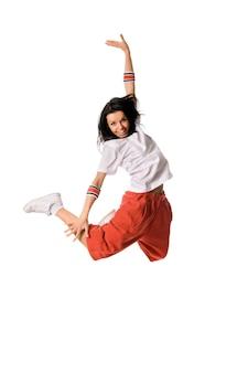 Leaping breakdancer