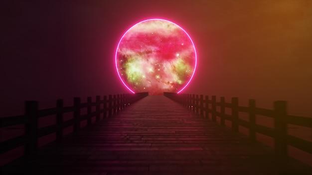 Lecąc wzdłuż niekończącego się drewnianego mostu