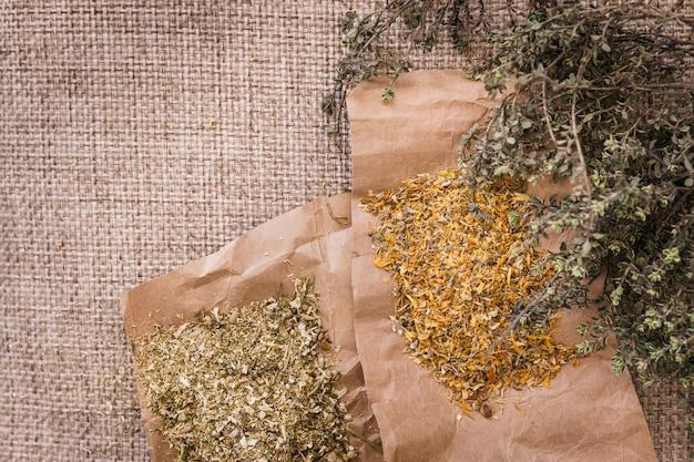 Lecznicze napary ziołowe na tekstyliach